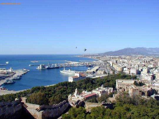 Puerto y Parque de Málaga, Ayuntamiento y Jardines de Puerta Oscura.