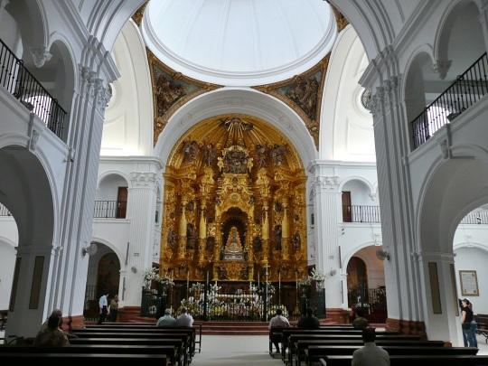 Interior de la ermita de la Virgen del Rocío. Huelva.